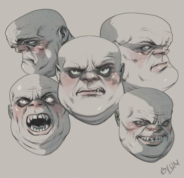 Goliath faces